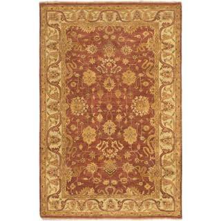 Ecarpetgallery Hand-knotted Royal Ushak Brown Wool Rug (5'9 x 8'9)