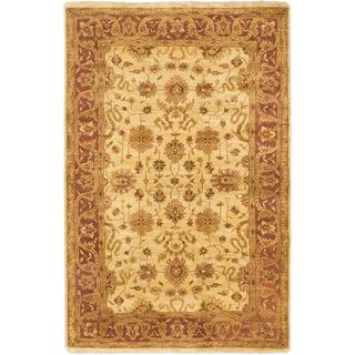 Ecarpetgallery Hand-knotted Royal Ushak Yellow Wool Rug (5'6 x 8'6)