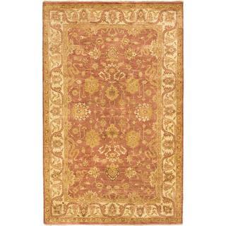 Ecarpetgallery Hand-knotted Royal Ushak Brown Wool Rug (5'6 x 8'7)