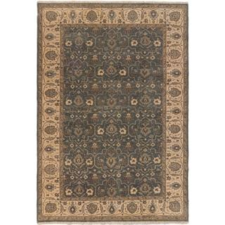 Ecarpetgallery Hand-knotted Royal Ushak Blue Wool Rug (6'1 x 8'11)