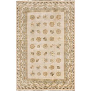 Ecarpetgallery Hand-knotted Royal Ushak Beige Wool Rug (6' x 9')
