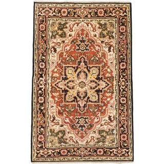 Ecarpetgallery Hand-knotted Royal Heriz Brown Wool Rug (5'10 x 9'1)