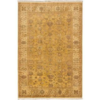 Ecarpetgallery Hand-knotted Royal Ushak Orange Wool Rug (6' x 9')