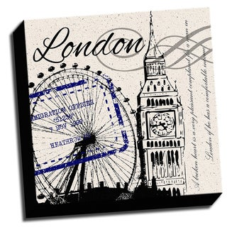 London Inspired 16x16 Printed on Framed Ready to Hang Canvas