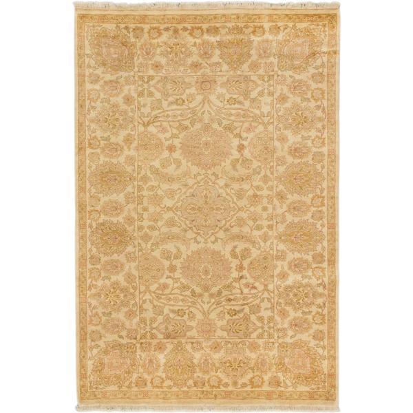 Ecarpetgallery Hand-knotted Royal Ushak Beige Wool Rug (5'7 x 8'4)