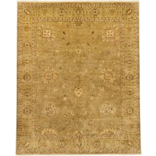 Ecarpetgallery Hand-knotted Jamshidpour Beige Wool Rug (8' x 9'10)