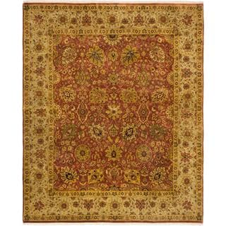 Ecarpetgallery Hand-knotted Jamshidpour Brown Wool Rug (8' x 9'8)
