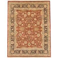Ecarpetgallery Hand-knotted Jamshidpour Orange Wool Rug (7'7 x 9'9)