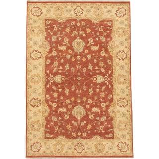 Ecarpetgallery Hand-knotted Chobi Twisted Brown Wool Rug (6'1 x 8'11)