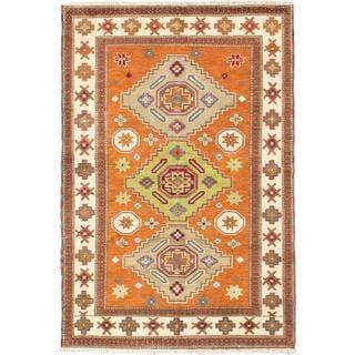 Ecarpetgallery Hand-knotted Royal Kazak Brown Wool Rug (5'8 x 8'4)