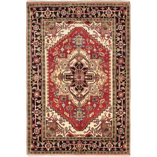 Ecarpetgallery Hand-knotted Serapi Heritage Red Wool Rug (6'1 x 8'11)