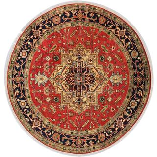 Ecarpetgallery Hand-knotted Serapi Heritage Brown Wool Rug (7'10 x 8')