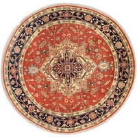 Ecarpetgallery Hand-knotted Serapi Heritage Brown Wool Rug (8' x 8')