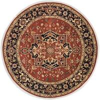 Ecarpetgallery Hand-knotted Serapi Heritage Orange Wool Rug (8' x 8')