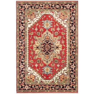 Ecarpetgallery Hand-knotted Serapi Heritage Brown Wool Rug (6' x 8'10)