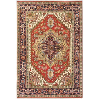Ecarpetgallery Hand-knotted Serapi Heritage Brown Wool Rug (6'2 x 9'1)
