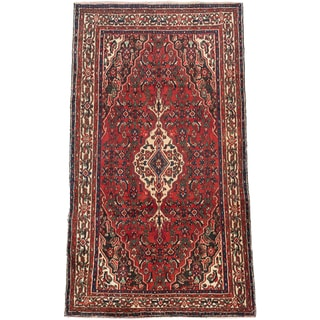 Ecarpetgallery Hand-knotted Persian Hosseinabad Red Wool Rug (5'8 x 9'2)