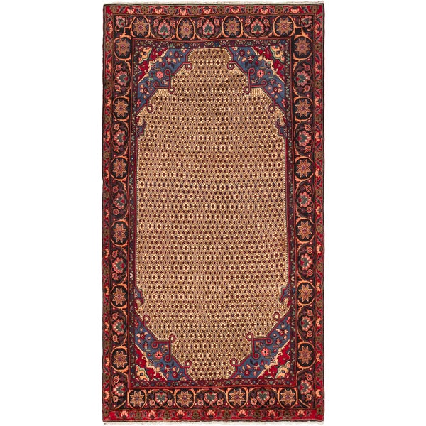 Ecarpetgallery Hand-knotted Persian Koliai Brown and Red Wool Rug (5'3 x 9'6)