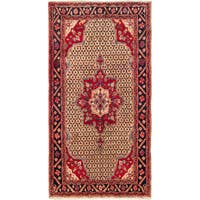 Ecarpetgallery Hand-knotted Persian Koliai Brown and Red Wool Rug (5' x 9'3)