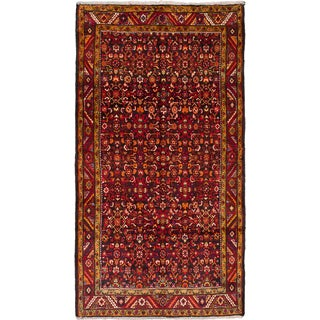 Ecarpetgallery Hand-knotted Persian Borchelu Black and Red Wool Rug (5'5 x 9'2)