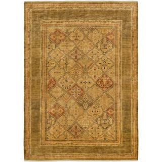 Ecarpetgallery Hand-knotted Peshawar Finest Yellow Wool Rug (6' x 8'5)