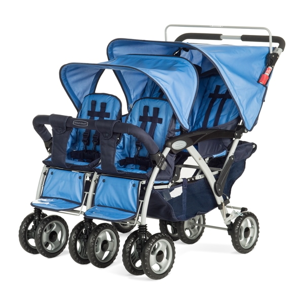 Child Craft Sport Blue Nylon Quad Multi-child Stroller