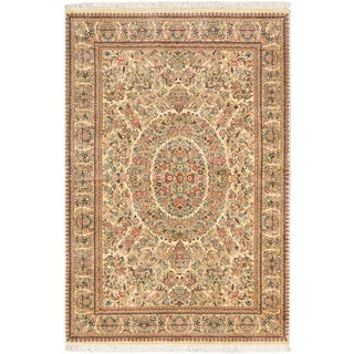 Ecarpetgallery Hand-knotted Pako Persian Beige Wool Rug (5'6 x 8'2)