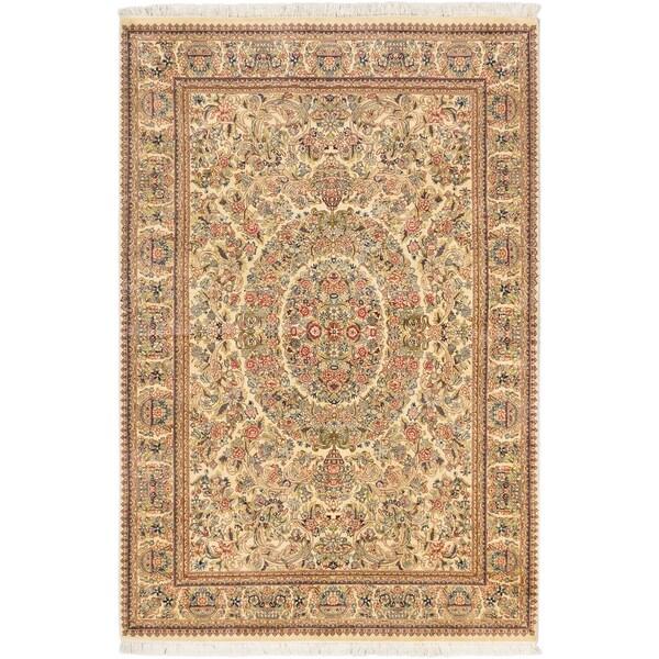 Ecarpetgallery Hand-knotted Pako Persian Beige Wool Rug (5'6 x 8'2)