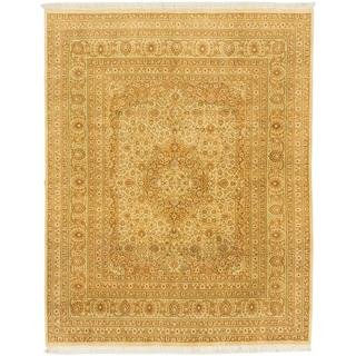 Ecarpetgallery Hand-knotted Pako Persian Beige and Brown Wool Rug (7'10 x 10')