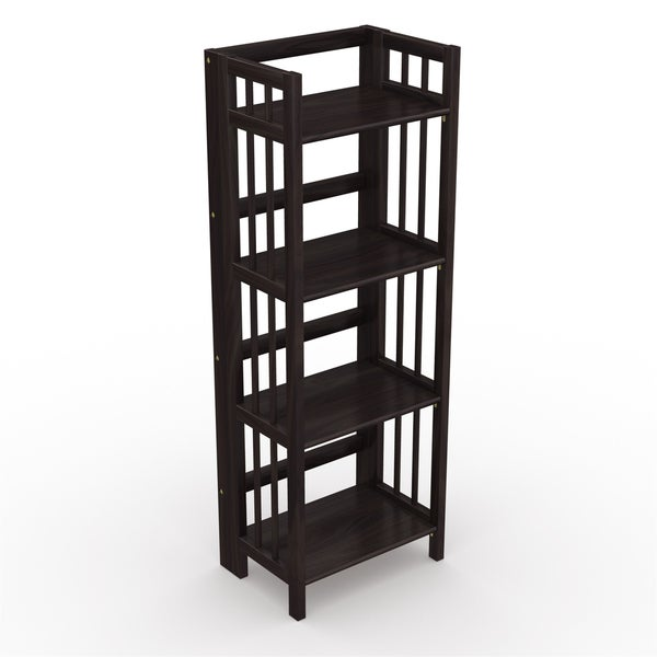 No Assembly Folding Four Shelf Bookcase (16 Inches Wide). Opens flyout.