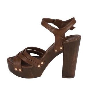 Beston Block Heel Platform Sandals