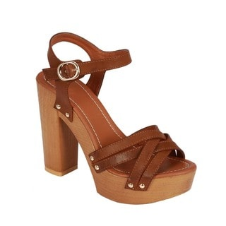 Beston Block Heel Platform Sandals