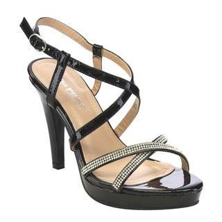 VIA PINKY Rhinestone Deco Heels