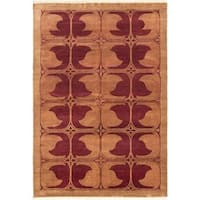 Ecarpetgallery Hand-knotted Peshawar Ziegler Brown and Red Wool Rug (6'3 x 9'1)