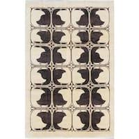 Ecarpetgallery Hand-knotted Peshawar Ziegler Beige Wool Rug (6'3 x 9'5)