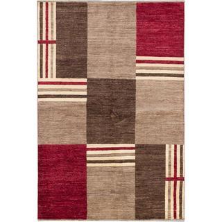 Ecarpetgallery Hand-knotted Peshawar Ziegler Beige and Brown Wool Rug (5'7 x 8'4)