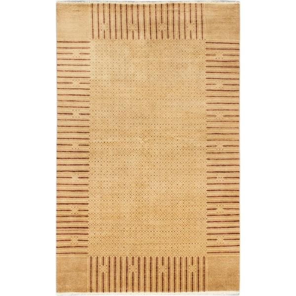 Ecarpetgallery Hand-knotted Peshawar Ziegler Beige and Multi Wool Rug (6' x 9'5)