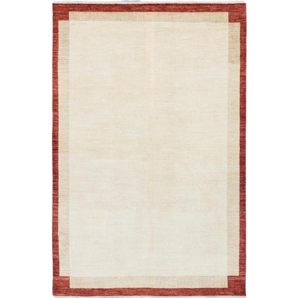 Ecarpetgallery Hand-knotted Peshawar Ziegler Beige Wool Rug (6'2 x 9'3)