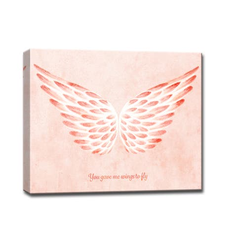 You gave me Wings to Fly II' Romantic Wrapped Canvas Wall Art