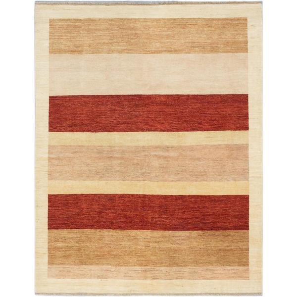 Ecarpetgallery Hand-knotted Peshawar Ziegler Beige Wool Rug (6'6 x 8'5)