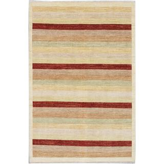 Ecarpetgallery Hand-knotted Peshawar Ziegler Yellow Wool Rug (6'7 x 9'10)