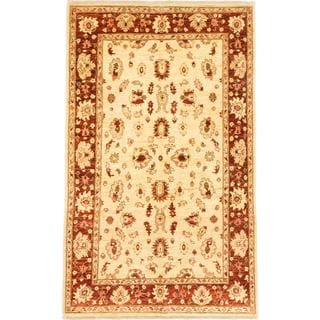 Ecarpetgallery Hand-knotted Chobi Finest Brown and Yellow Wool Rug (5'3 x 8'5)