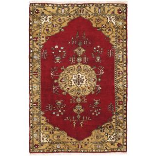 Ecarpetgallery Hand-knotted Melis Vintage Red Wool Rug (5'9 x 8'10)