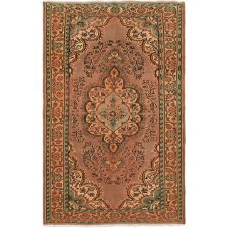 Ecarpetgallery Hand-knotted Ottoman Vintage Beige Wool Rug (5'3 x 8')