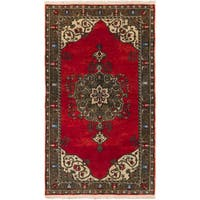 Ecarpetgallery Hand-knotted Anadol Vintage Red Wool Rug (5'4 x 9'3)