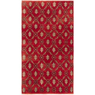 Ecarpetgallery Hand-knotted Keisari Vintage Red Wool Rug (5'1 x 9')