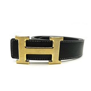 Women's H Belt Reversible Leather With Removable Buckle