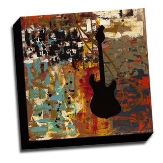 Guitar Tune 16x16 Music Art Printed on Ready to Hang Framed Stretched Canvas