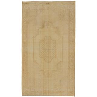 Ecarpetgallery Hand-knotted Anatolian Sunwash Beige and Yellow Wool Rug (5'5 x 9'8)