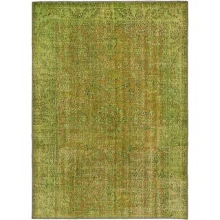 Ecarpetgallery Hand-knotted Anatolian Overdyed Brown and Green Wool Rug (7'1 x 9'9)